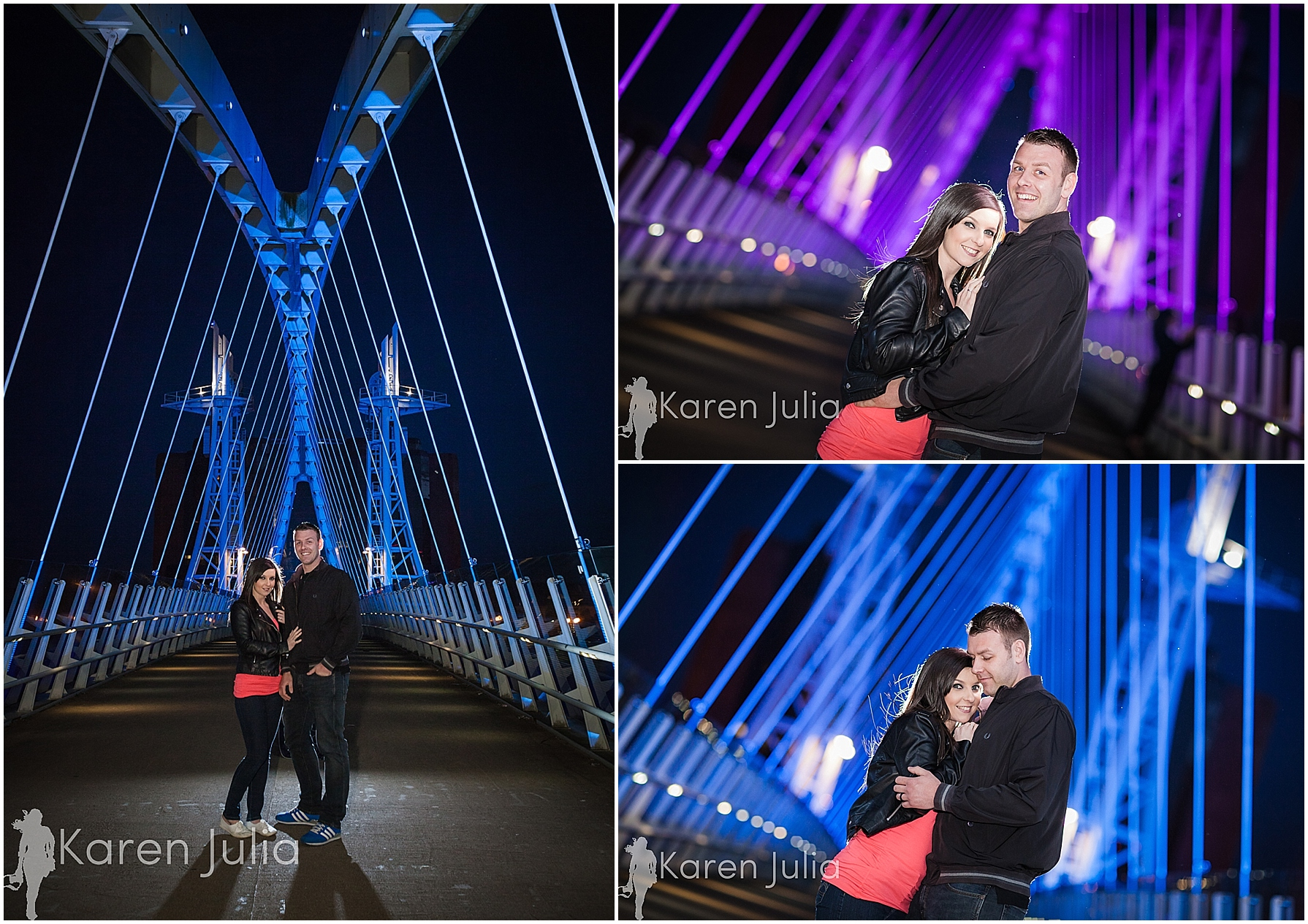 Salford Quays Evening Engagement Shoot