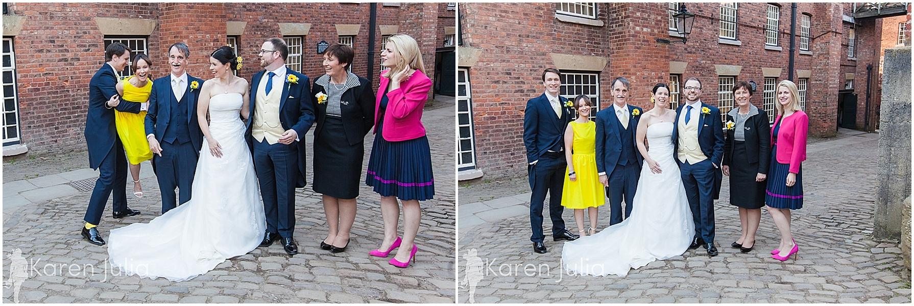 Quarry Bank Mill wedding group photos