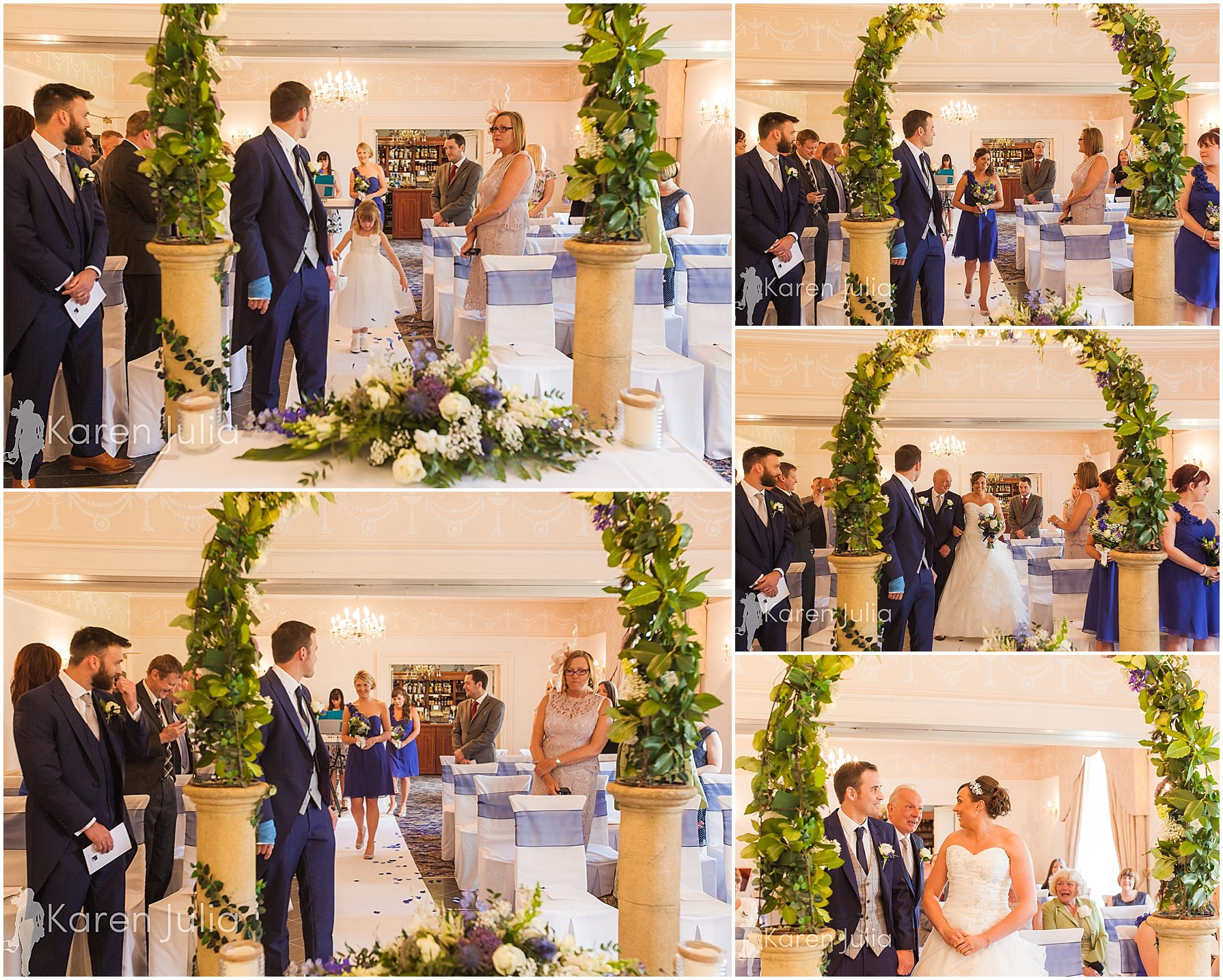 wedding ceremony spring house hotel