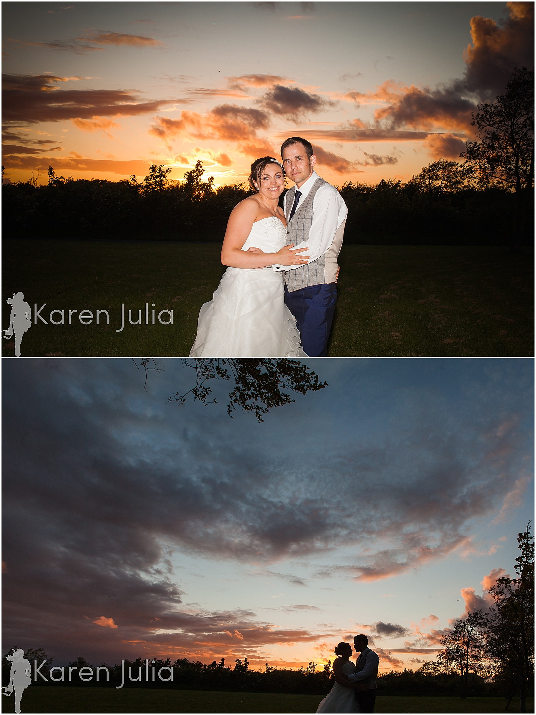 bride & groom sunset portraits at spring house hotel