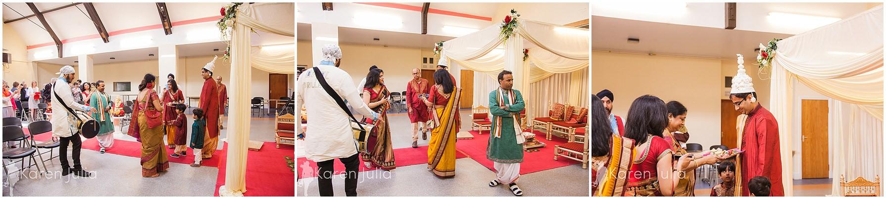 wedding ceremony at Gita Bhavan hindu temple