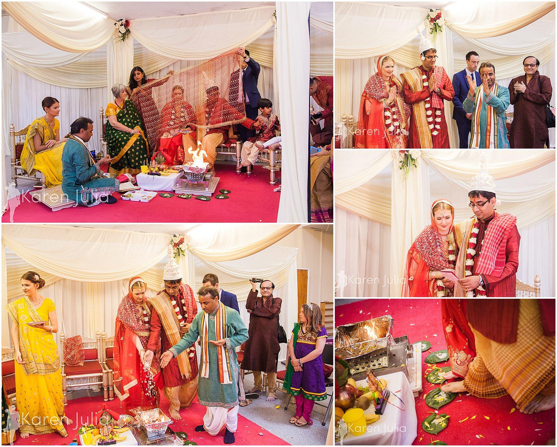 wedding ceremony gita bhavan hindu temple