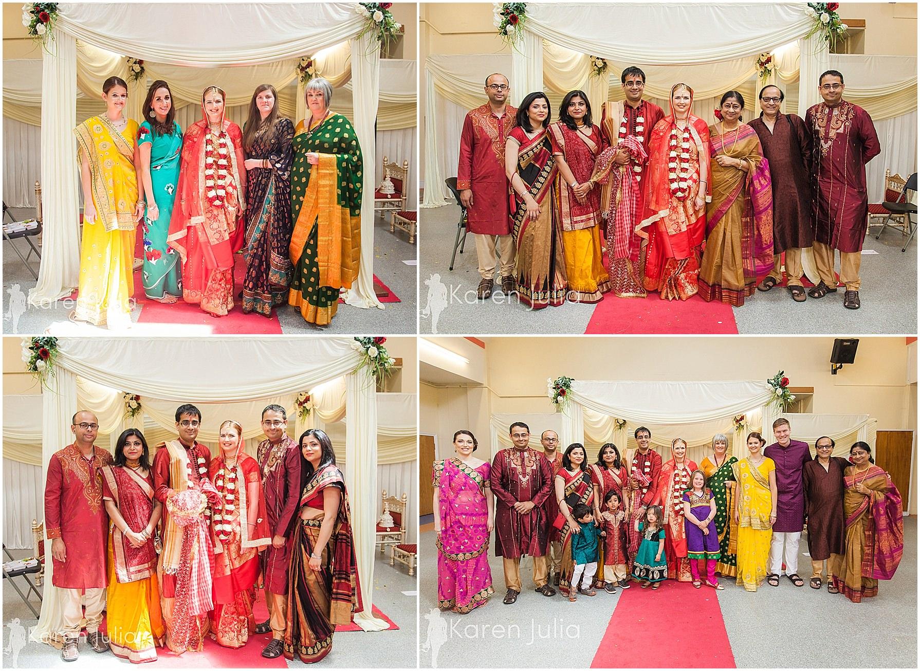 wedding group photos gita bhavan hindu temple