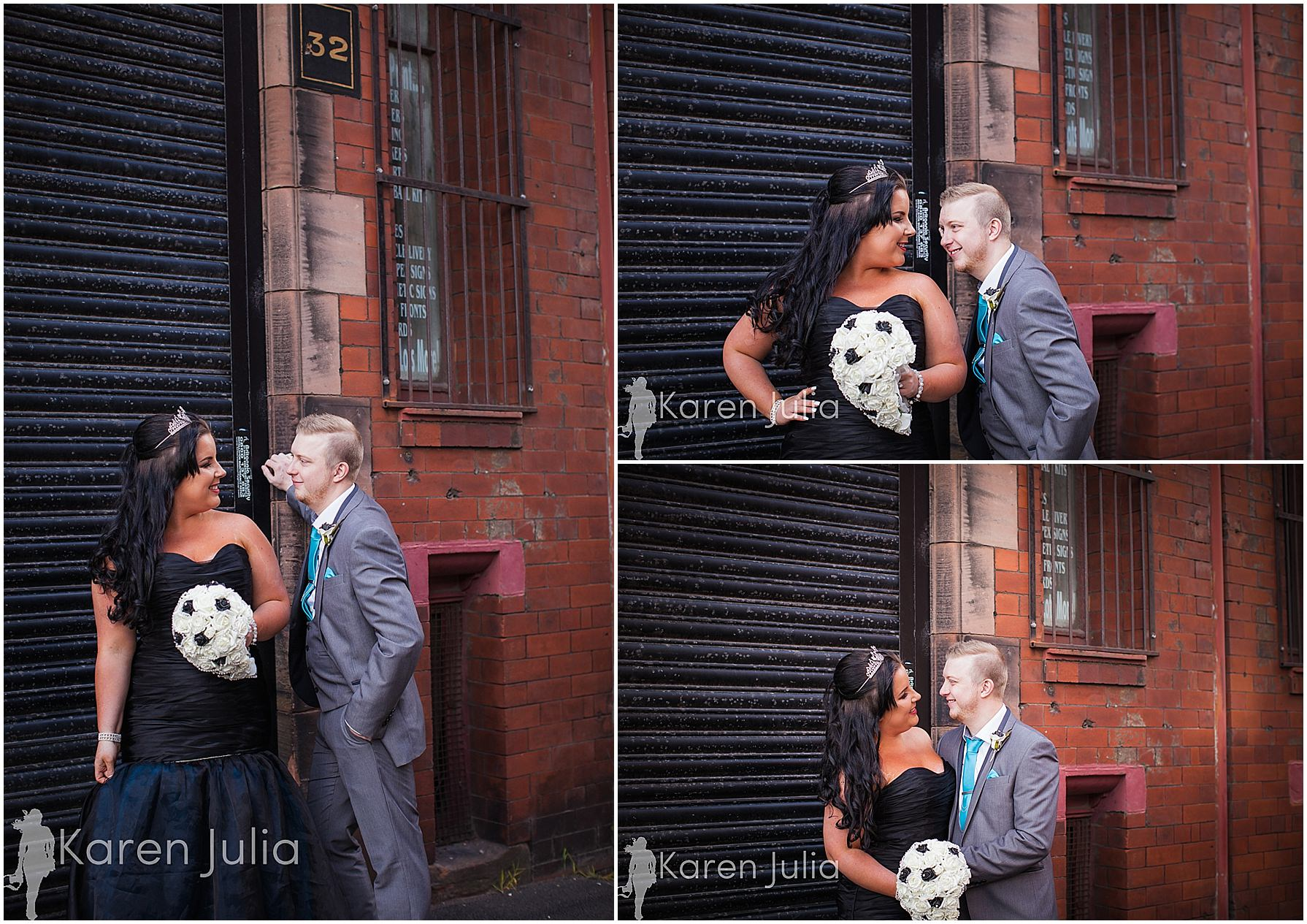 bride & groom portraits manchester northern quarter