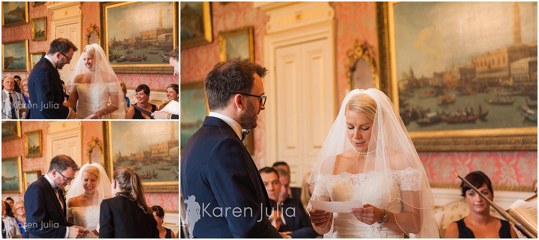 brie & groom exchange of rings capesthorne hall
