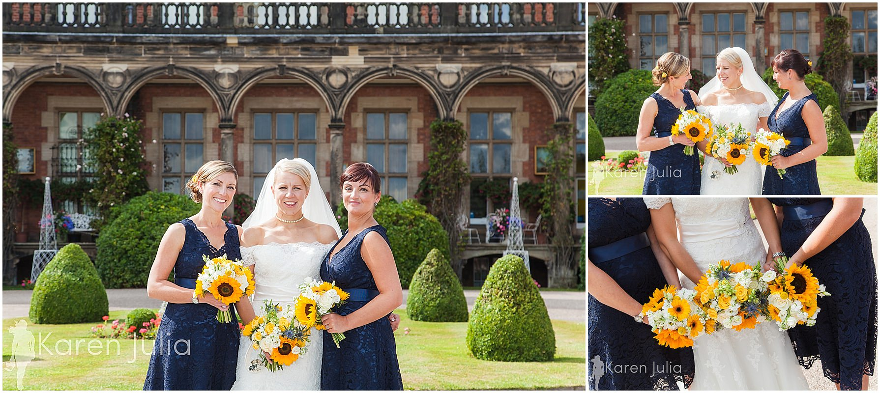 group photo bridesmaids capesthorne hall