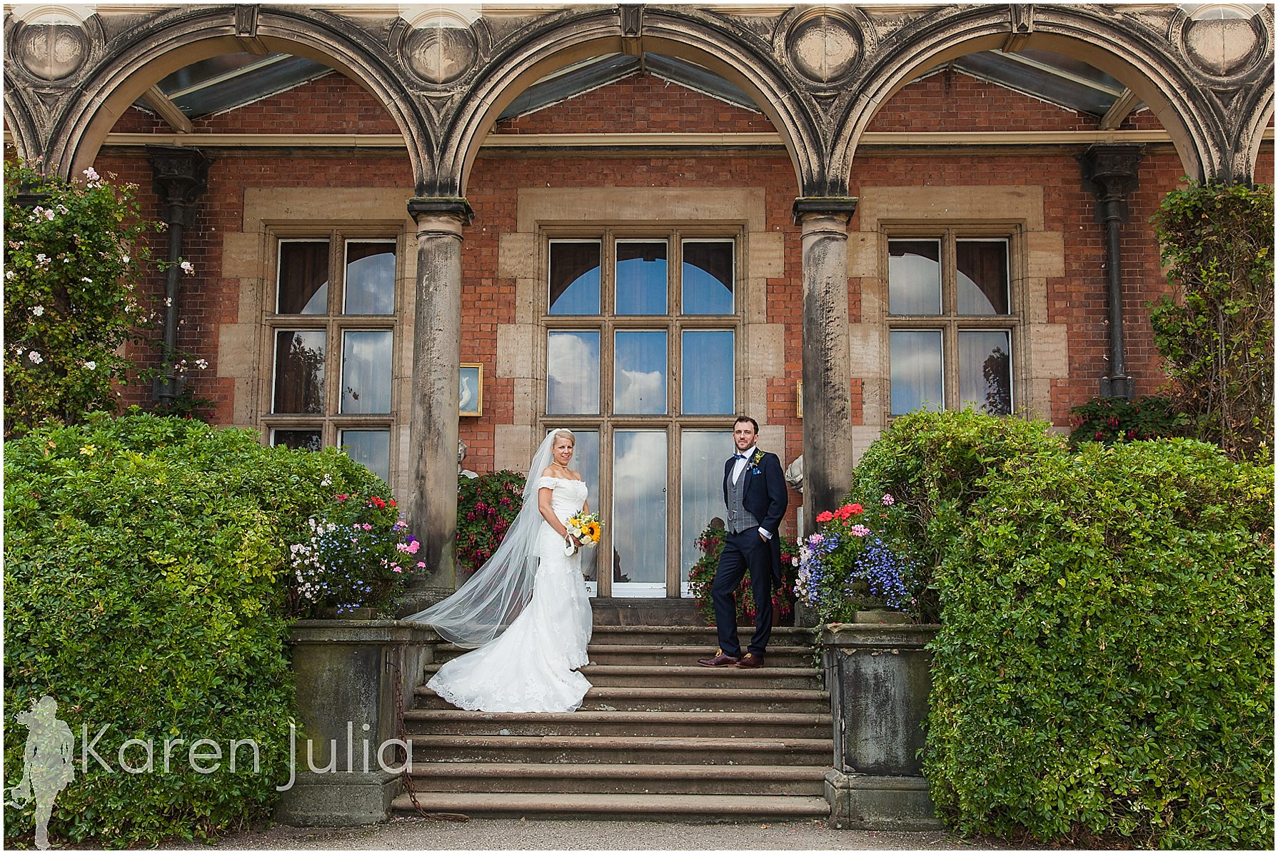 bride & groom portrait capesthorne hall