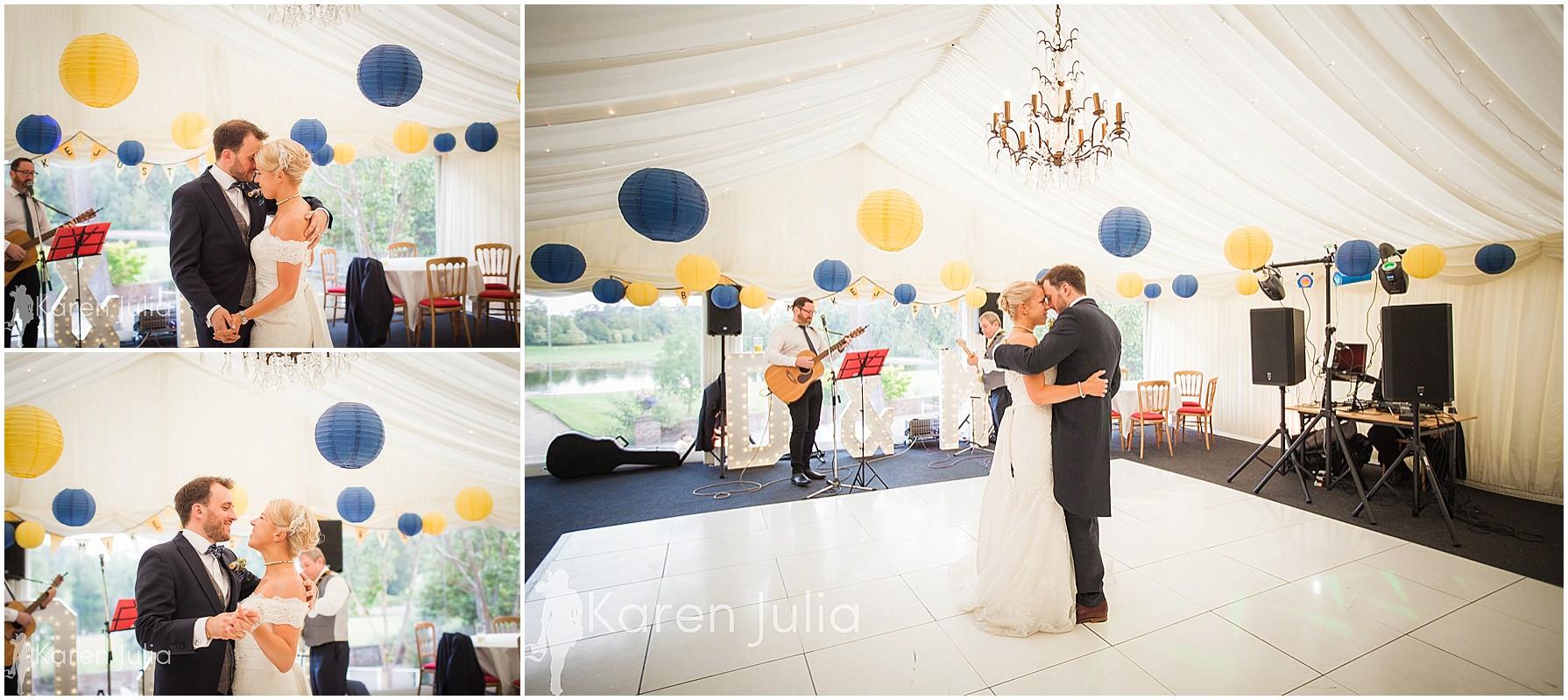 bride & groom first dance capesthorne hall