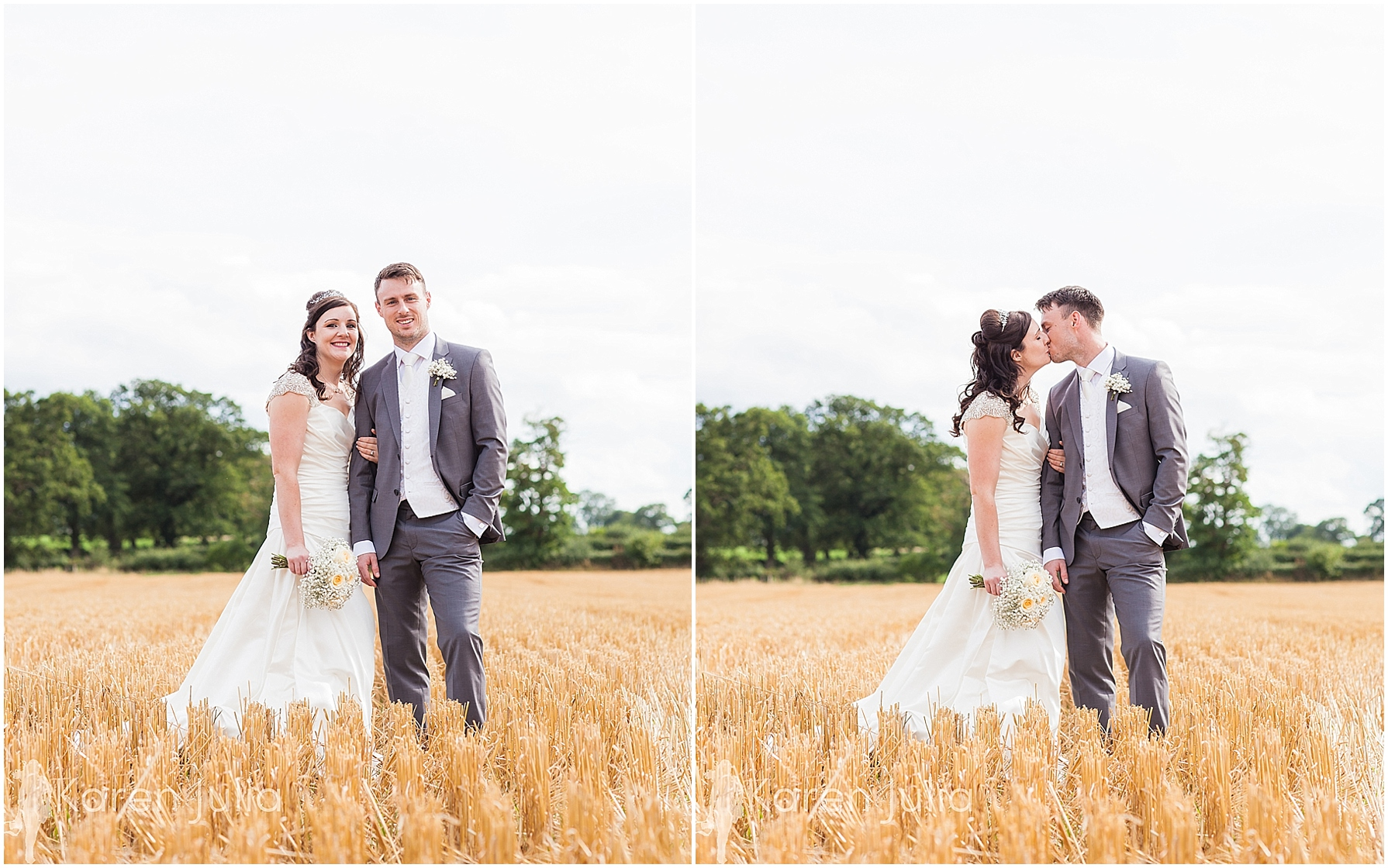 Cheshire Wedding Photography Smallwood village corn field portraits