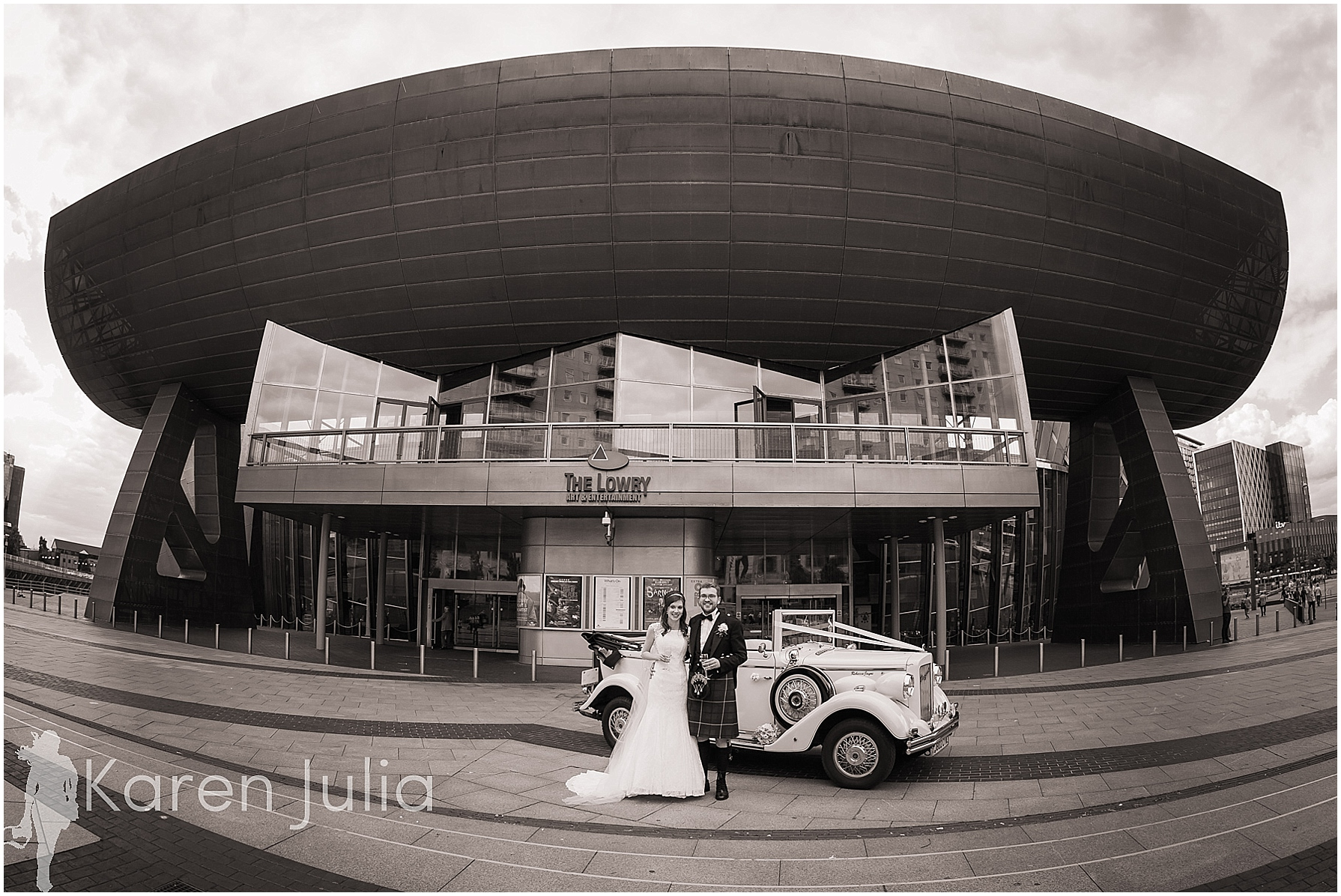 Lowry Theatre Wedding Portrait