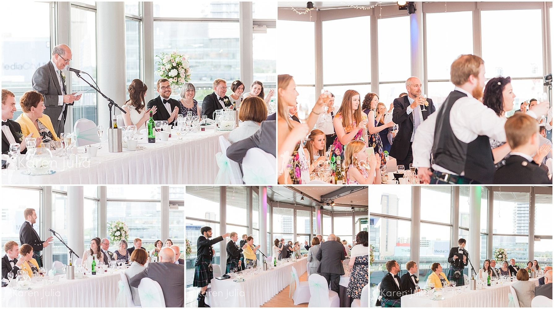 wedding speeches compass room lowry theatre