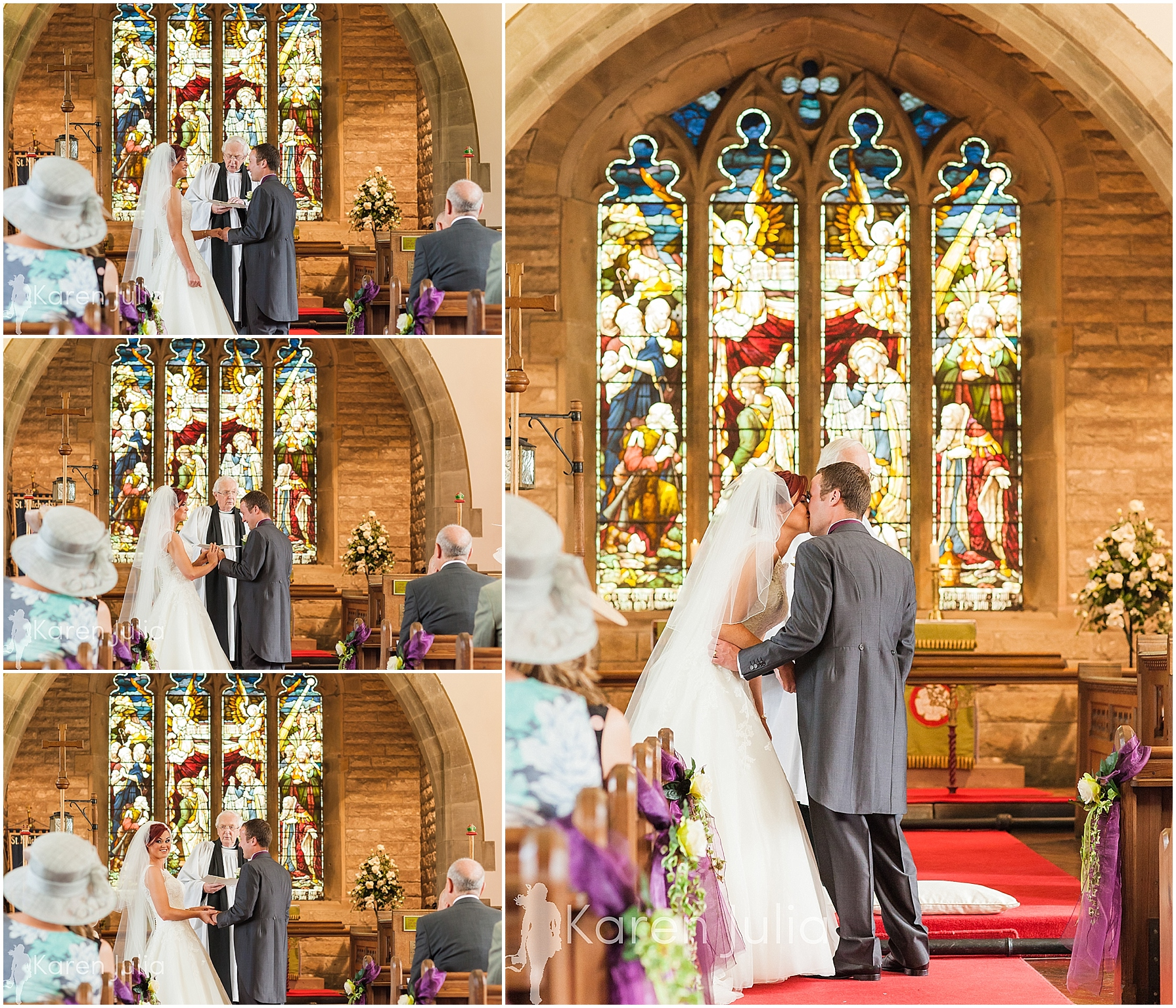 wedding ceremony at church at inn at whitewell