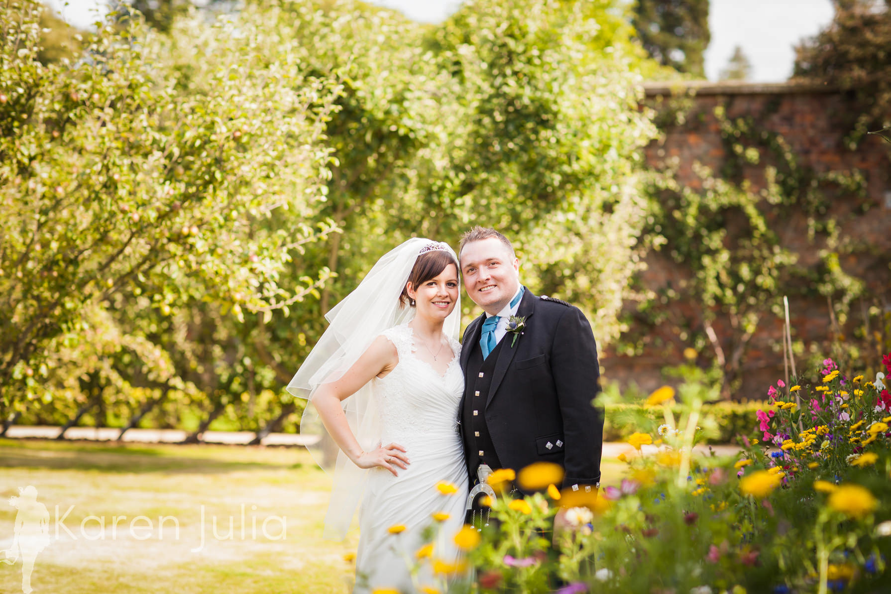 Teal, Pink & Tartan Tatton Hall Wedding Photography