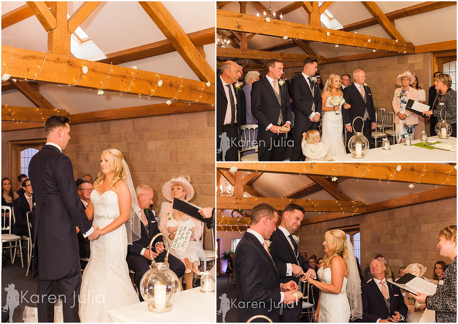 wedding ceremony heaton house farm wedding ceremony