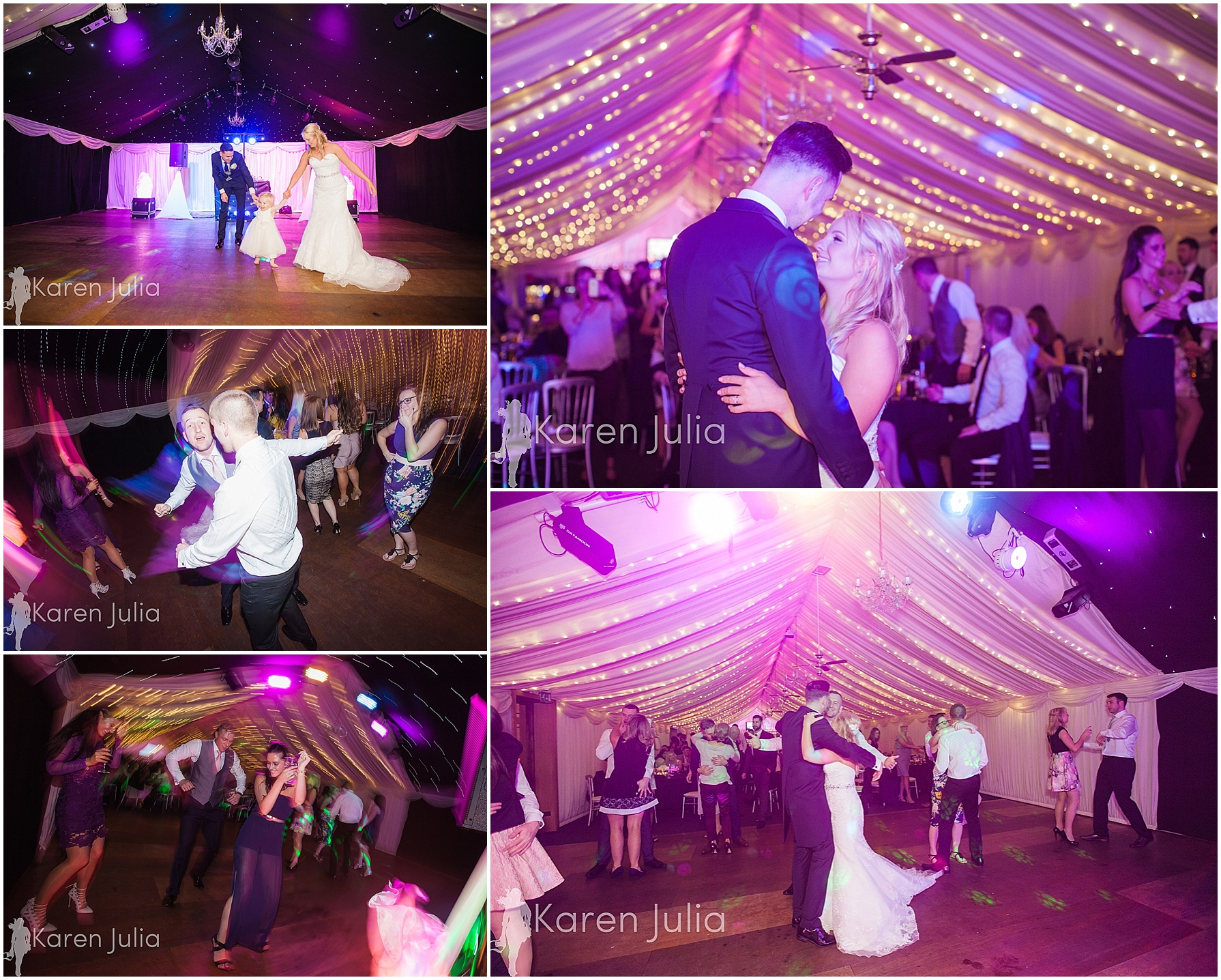 evening reception Winter Heaton House Farm Wedding Photography