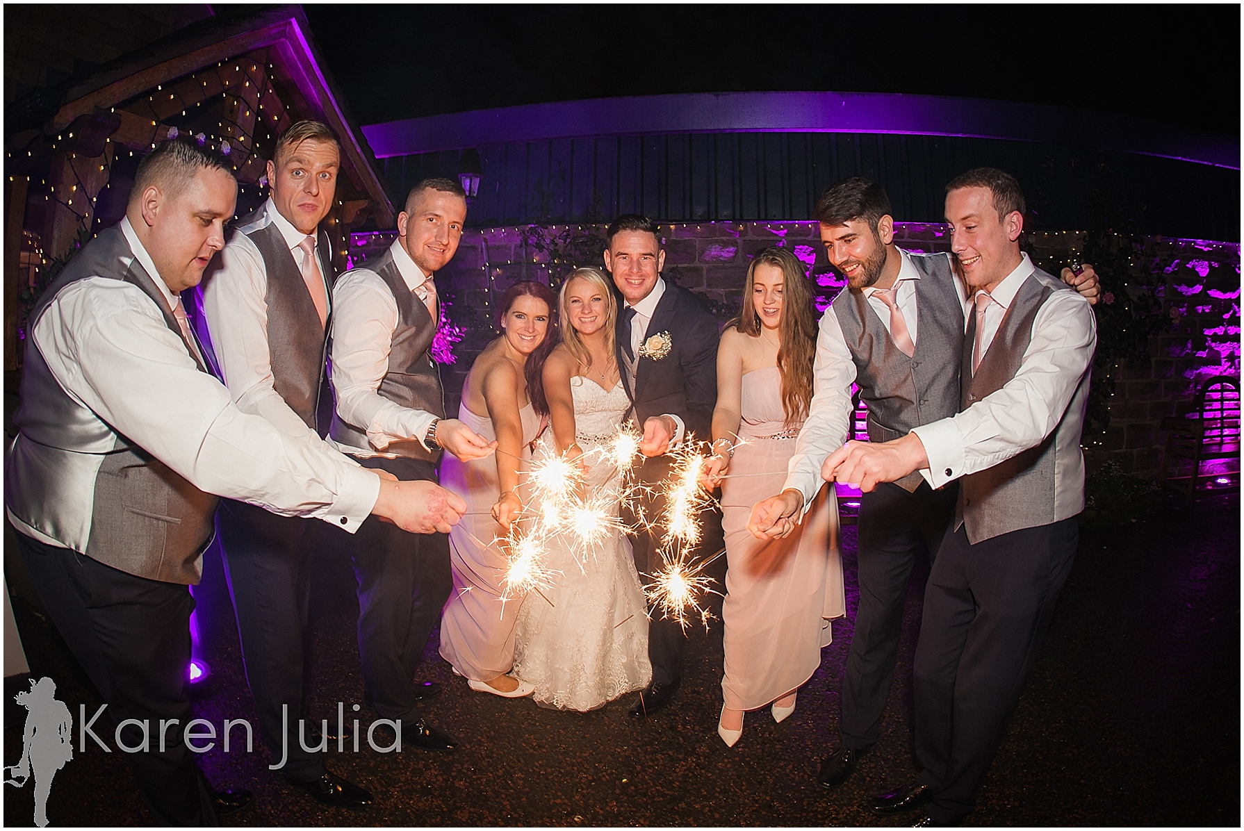 sparkler wedding photo Winter Heaton House Farm Wedding Photography