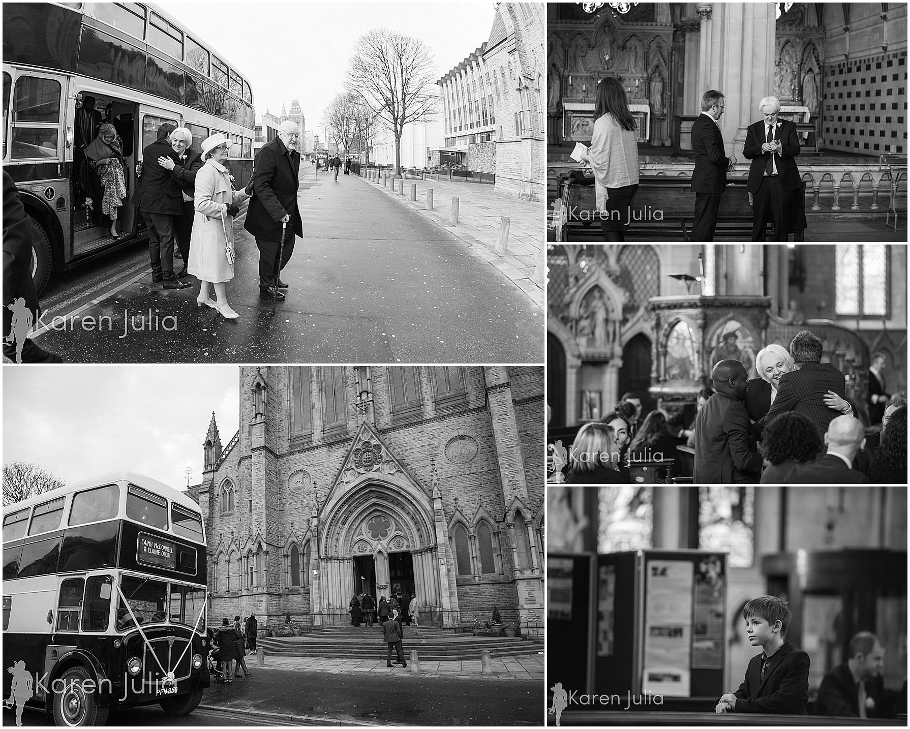 documentary wedding photos holy name church