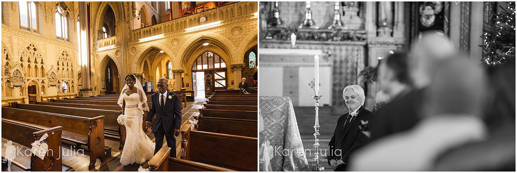 bride arrive t holy name church