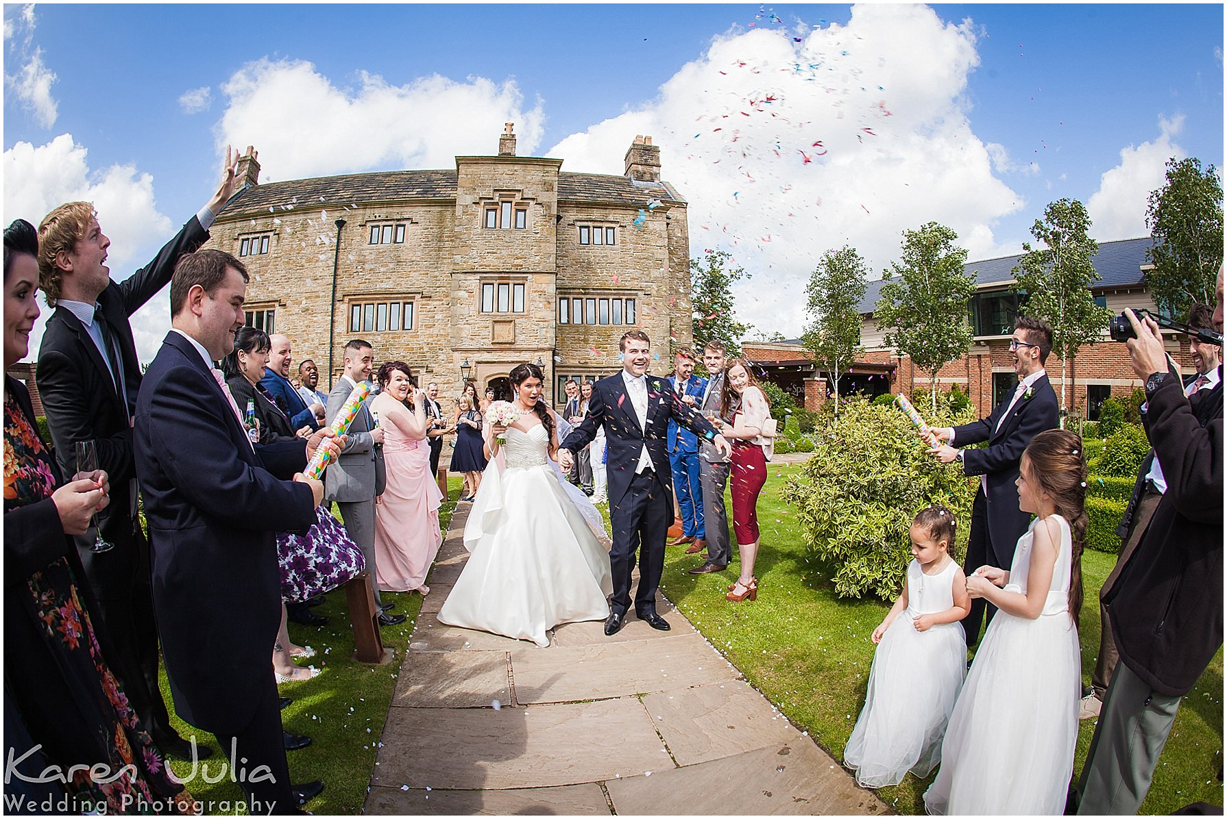 confetti photo at Stanley House Hotel