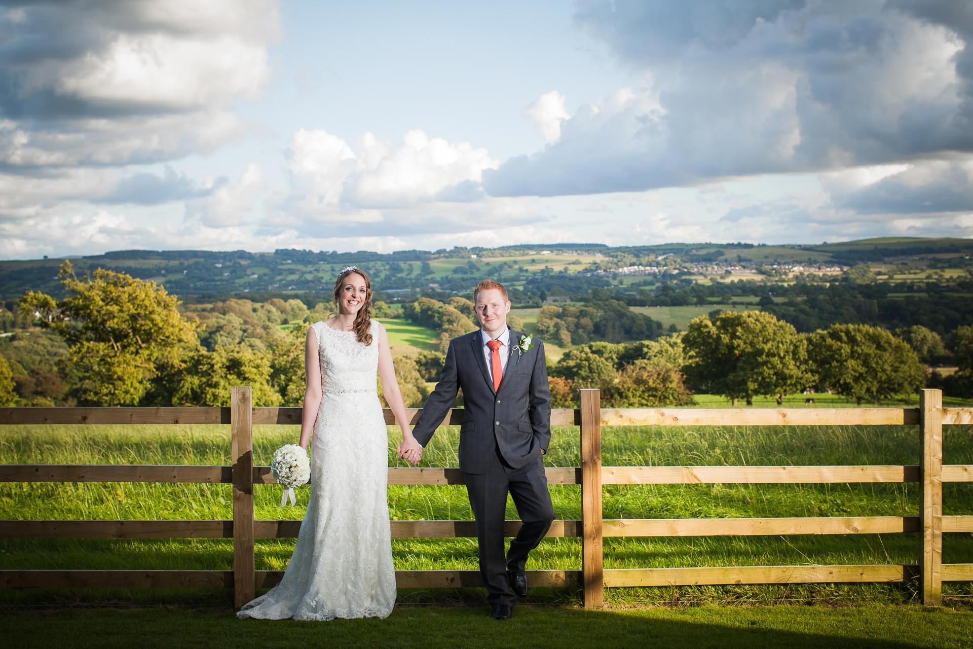 bride and groom portrait at Shireburn Arms in the Ribble Valley