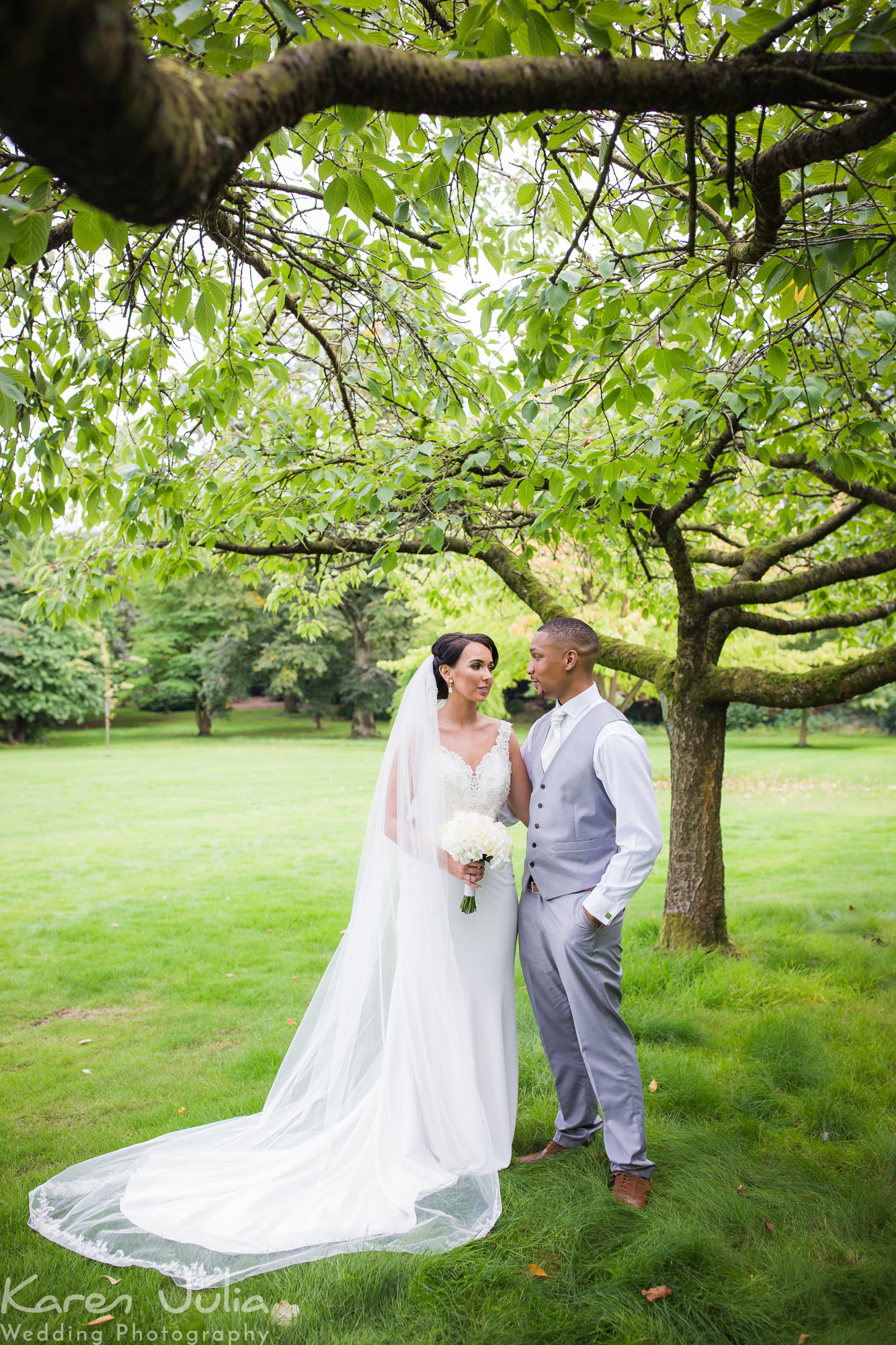 bride and groom portrait at their Romantic Period Property Wedding at Chancellors Hotel